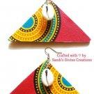 Ankara Earrings, Cowrie Earrings, Beaded Earrings, Fabric Earrings, Gift for Women, Gift for Friend