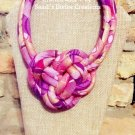 Ankara Necklace, Knot Necklace, Fabric Necklace, African Jewelry, Unique Gift for Mom, Gift for Wife