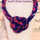 African Necklace, Knot Necklace, Ankara Jewelry, Ankara Necklace, Gift for Sister, Gift for Friend