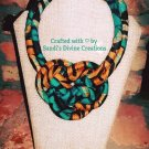Ankara Necklace, African Print Necklace, Tribal Jewelry, Handmade Gift for Her, Unique Gift for Mom