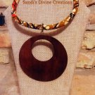 Ankara Necklace, Fabric Necklace, Afrocentric Necklace, Rope Necklace, Gift for Wife, Gift for Mom