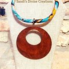 Ankara Necklace, African Fabric Necklace, Rope Necklace, Gift for Best Friend, Gift for Sister