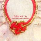Cheetah Print Necklace, Cheetah Ginger Print Necklace, Fabric Necklace, Gift for Women, Gift for Her