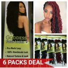 Faux Locs Hair, Goddess Faux Locs, Urban Beauty Faux Locs Crochet Hair #1 => 6 Packs, Gift For Her