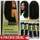 Goddess Faux Locs, Urban Beauty Faux Locs Crochet Hair, Faux Locs Hair #2 => 6 Packs, Gift For Her