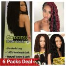 Goddess Faux Locs Crochet Hair, Faux Locs Hair, Urban Beauty Faux Locs #1/30 => 6 Packs Gift For Her