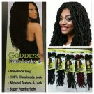 Faux Locs Crochet Hair, Goddess Faux Locs, Urban Beauty Faux Locs #2 (Dark Brown), Gift for Her