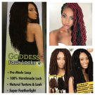 Faux Locs Hair, Urban Beauty Faux Locs, Goddess Faux Locs, Crochet Faux Locs Color 1/30 Gift for Her