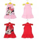 NWT Minnie Mouse Summer Dress For Little Girls In Pink Or Red Sizes 2T 3T 4T 5T