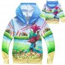 NWT Dreamworks Trolls Blue Warm Winter Zipper Sweater Sizes 3 4 5 6 7 8 9 10