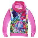 Dreamworks Trolls Dark Pink Winter Hoodie Sweater Sizes 3 4 5 6 7 8 9 10
