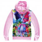 Dreamworks Trolls Light Pink Winter Hoodie Sweater Sizes 3 4 5 6 7 8 9 10