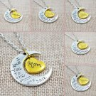 NWT Assorted I Love You To The Moon And Back Stainless Steel Gold Heart Necklace