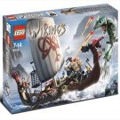 LEGO 7018 Vikings Series Viking Ship challenges the Midgard Serpent
