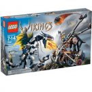 LEGO 7021 Vikings Series Viking Double Catapult vs. the Armored Ofnir Dragon