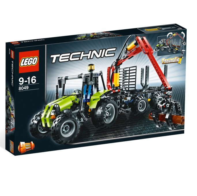 LEGO 8049 Technic Series Tractor with Log Loader
