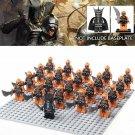 21pcs minifigures Lord of The Rings Mordor Orcs Army with Sauron Lego compatible Building Blocks