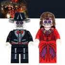 2pcs minifigures Skeleton Movie Coco Day of the Dead Lego compatible Building Blocks