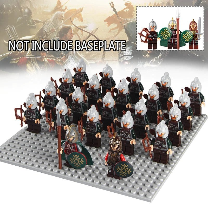 22pcs minifigures Lord of the Rings King Theoden, Eomer Rohan Archer Lego compatible Building Blocks