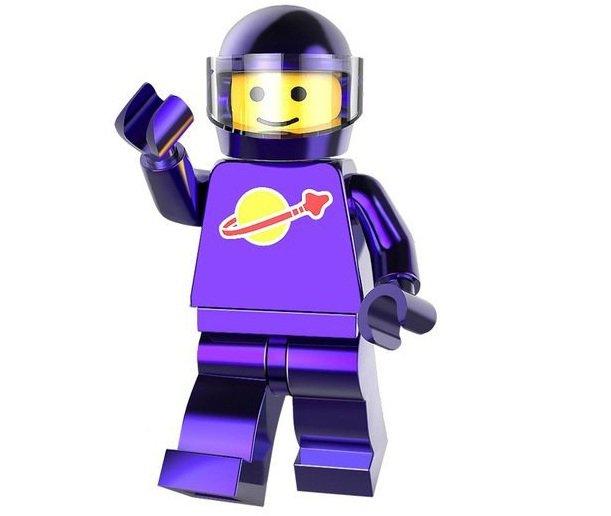 Minifigure Astronaut Dark Purple Chrome Lego compatible Building Blocks Toys