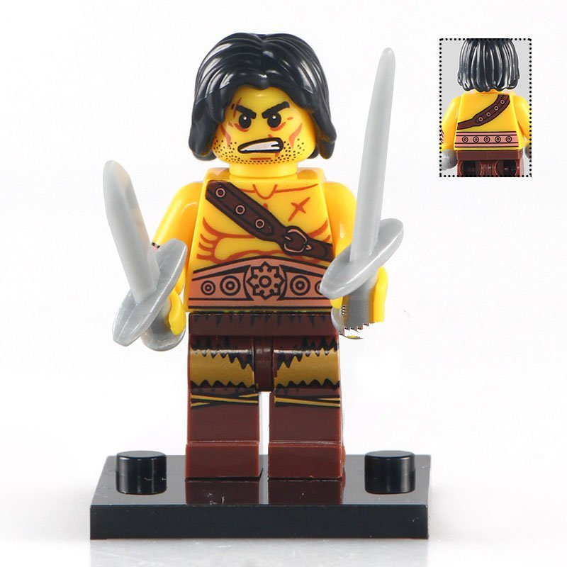 Minifigure Barbarian Warrior Ancient History Lego compatible Building Blocks Toys