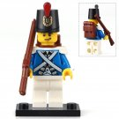 Minifigure Imperial Guard Bluecoat Soldier Pirates Lego compatible Building Blocks Toys