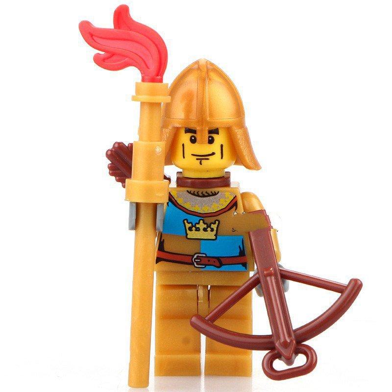 Minifigure Medieval Castle Golden Archer Ð¡rossbowman History Lego compatible Building Blocks Toys