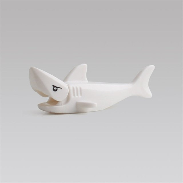 Minifigure White Shark Lego compatible Building Blocks Toys