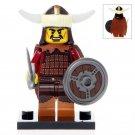 Minifigure Medieval Hun Warrior Barbarian Nomad Conqueror History Lego compatible Building Blocks