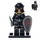 Minifigure Medieval Evil Black Knight Warrior History Lego compatible Building Blocks Toys