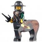 Minifigure Medieval Centaur Double Sai Green Dragon Knight Castle Lego compatible Building Blocks