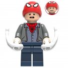 Minifigure Peter Parker Spider-Man Far From Home Marvel Super Heroes Lego compatible Building Blocks
