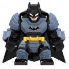 Big Minifigure Batman Blue Armored DC Comics Super Heroes Lego compatible Building Blocks Toys