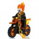 Minifigure Ghost Rider with Motorcycle Marvel Super Heroes Lego compatible Building Blocks Toys