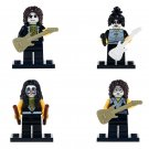 4pcs minifigures Kiss Rock Glam Metal Band Lego compatible Building Blocks