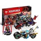 06074 Street Race of Snake Jaguar NinjaGo Series (Lego 70639 copy) Buildind Blocks