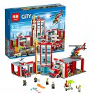 02052 Fire Station City Series (Lego 60110 copy) Building Blocks