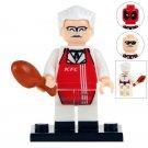 Minifigure Colonel Sanders KFC compatible Building Blocks Toys