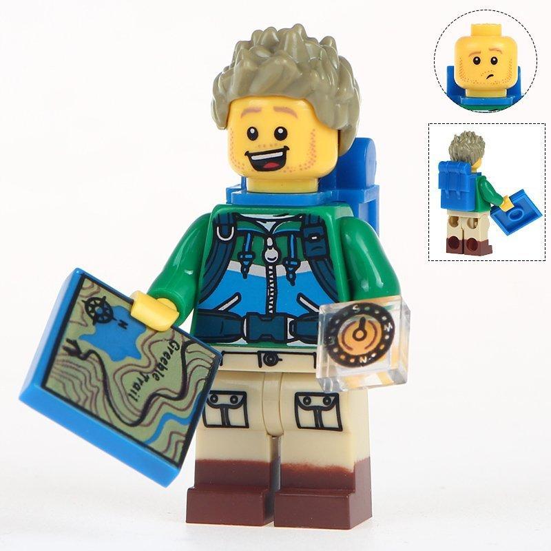 Minifigure Mountain Hiker Explorer compatible Building Blocks Toys