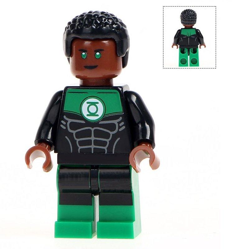 Minifigure Green Lantern John Stewart DC Comics Super Heroes Lego compatible Building Blocks Toys