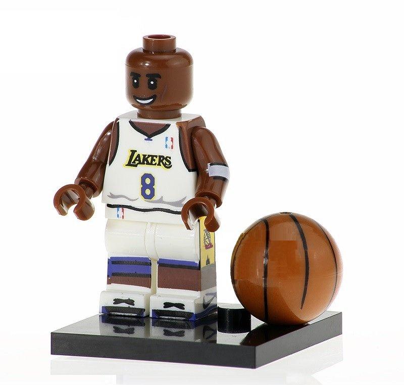 Minifigure Kobe Bryant Basketball NBA Los Angeles Lakers Lego compatible Building Blocks Toys
