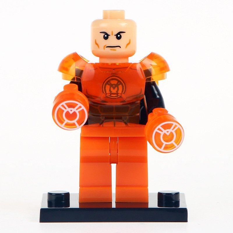 Minifigure Orange Lex Luthor Green Lantern DC Comics Super Heroes Lego compatible Building Blocks