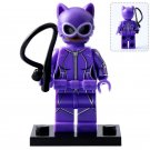Minifigure Catwoman Violet Suit DC Comics Super Heroes Lego compatible Building Blocks Toys