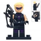 Minifigure Hawkeye with Black Glasses Marvel Super Heroes Lego compatible Building Blocks