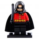 Minifigure Robin in Black Cloak DC Comics Super Heroes Lego compatible Building Blocks