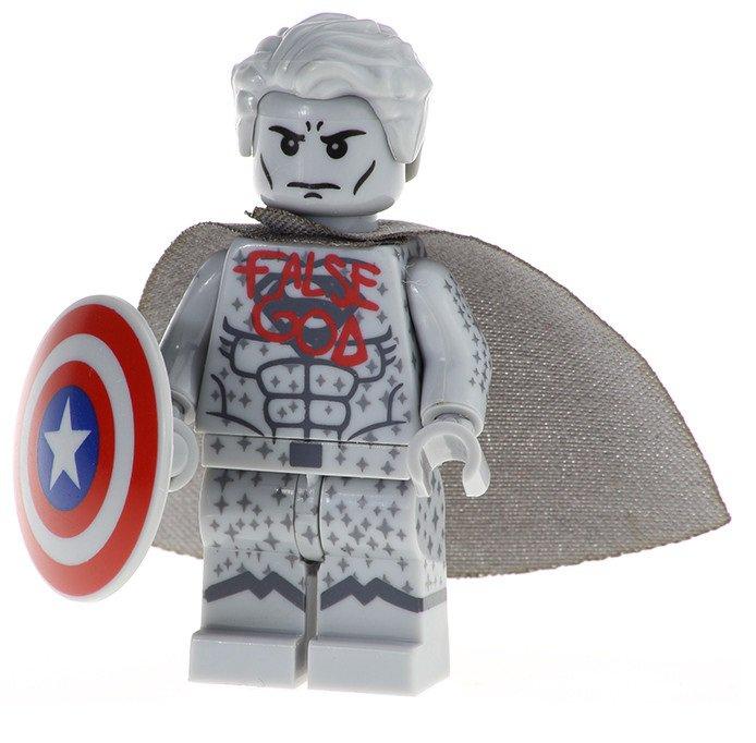 Minifigure Superman False God Statue DC Comics Super Heroes Lego compatible Building Blocks Toys