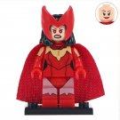 Minifigure Scarlet Witch Red Cloak Marvel Super Heroes Lego compatible Building Blocks