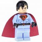 Minifigure Superman Red Son Suit DC Comics Super Heroes Lego compatible Building Blocks