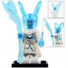 Minifigure Frozen Loki with Chitauri Scepter Avengers Marvel Super Heroes Lego compatible Blocks