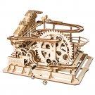 Waterwheel Coaster Magic Crush Marble Run Robotime ROKR LG501 3D Wooden Puzzle Building Blocks Toys
